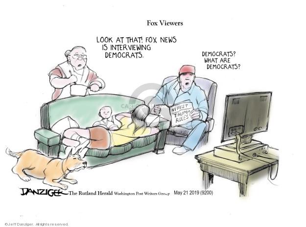 Jeff Danziger  Jeff Danziger's Editorial Cartoons 2019-05-21 political media