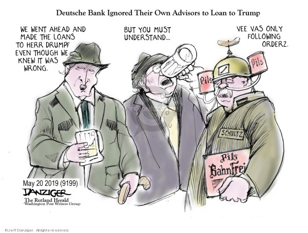 Cartoonist Jeff Danziger  Jeff Danziger's Editorial Cartoons 2019-05-22 finance