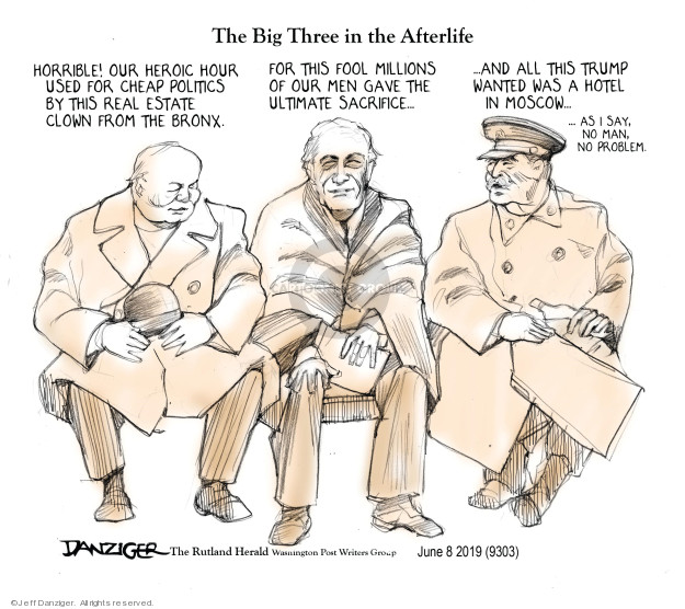 Cartoonist Jeff Danziger  Jeff Danziger's Editorial Cartoons 2019-06-09 Franklin Roosevelt