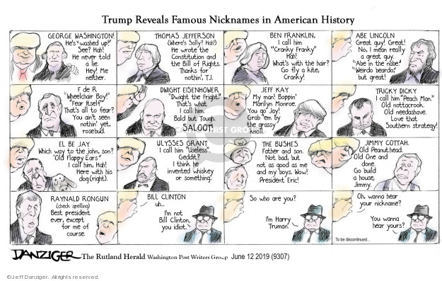 Cartoonist Jeff Danziger  Jeff Danziger's Editorial Cartoons 2019-06-13 best