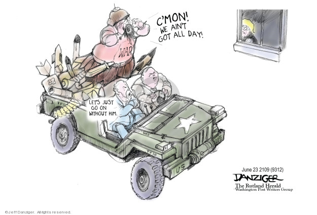 Cartoonist Jeff Danziger  Jeff Danziger's Editorial Cartoons 2019-06-24 international war