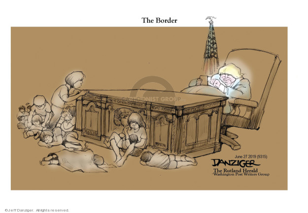 Cartoonist Jeff Danziger  Jeff Danziger's Editorial Cartoons 2019-06-27 migrant