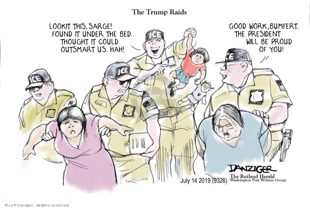 Cartoonist Jeff Danziger  Jeff Danziger's Editorial Cartoons 2019-07-14 migrant