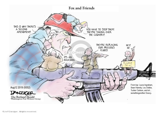Cartoonist Jeff Danziger  Jeff Danziger's Editorial Cartoons 2019-08-13 shooting