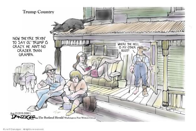 Cartoonist Jeff Danziger  Jeff Danziger's Editorial Cartoons 2019-08-23 illness