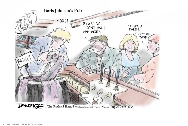 Jeff Danziger  Jeff Danziger's Editorial Cartoons 2019-08-28 international economics