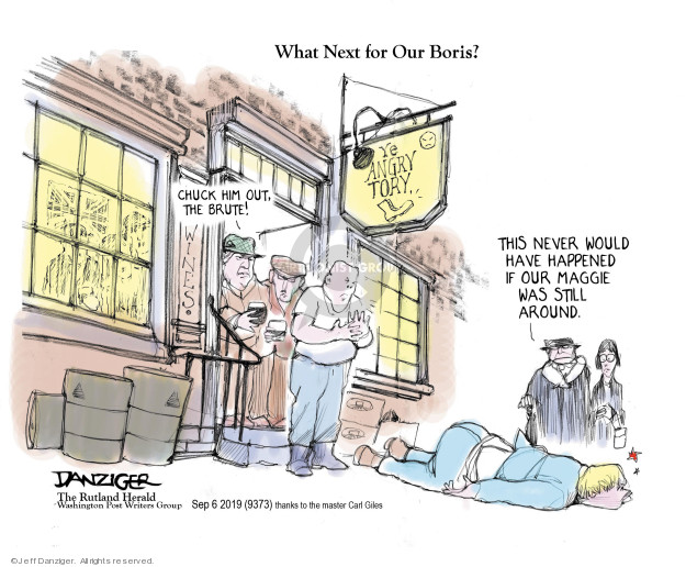 Jeff Danziger  Jeff Danziger's Editorial Cartoons 2019-09-06 Chuck