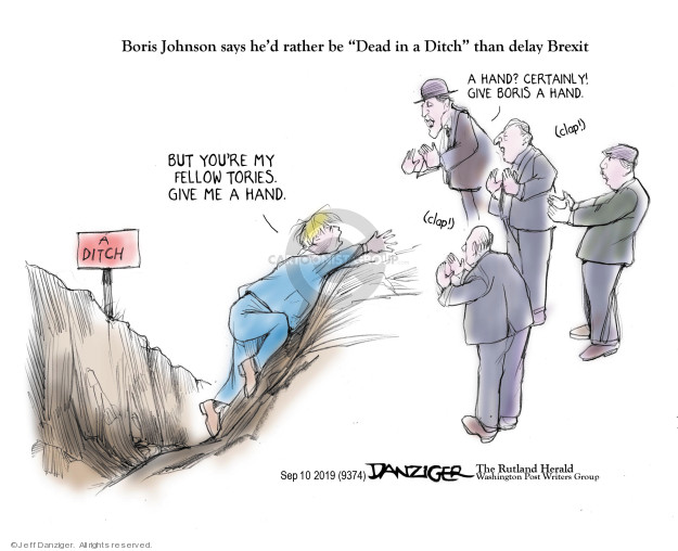 Cartoonist Jeff Danziger  Jeff Danziger's Editorial Cartoons 2019-09-10 give