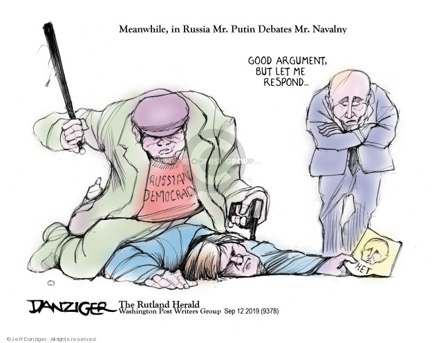 Jeff Danziger  Jeff Danziger's Editorial Cartoons 2019-09-13 Vladimir Putin