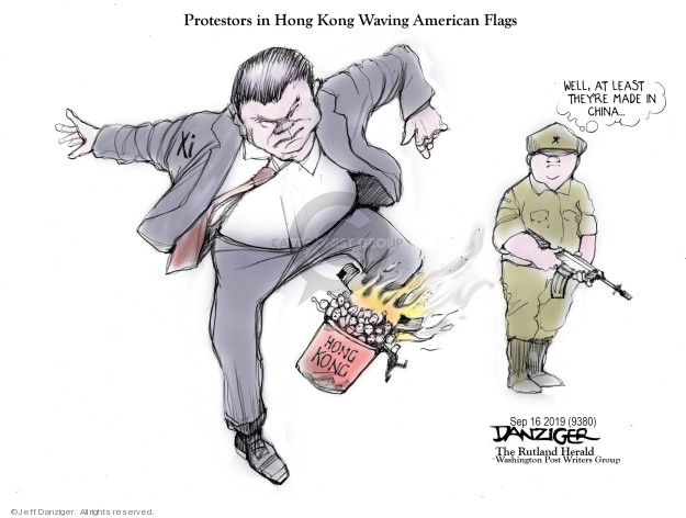 Cartoonist Jeff Danziger  Jeff Danziger's Editorial Cartoons 2019-09-17 flag