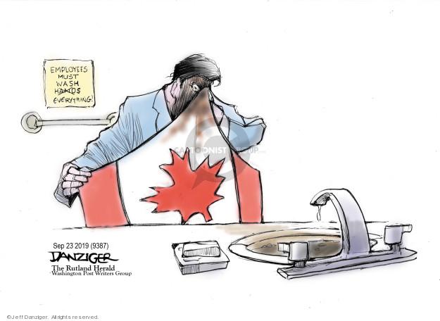 Cartoonist Jeff Danziger  Jeff Danziger's Editorial Cartoons 2019-09-23 political scandal