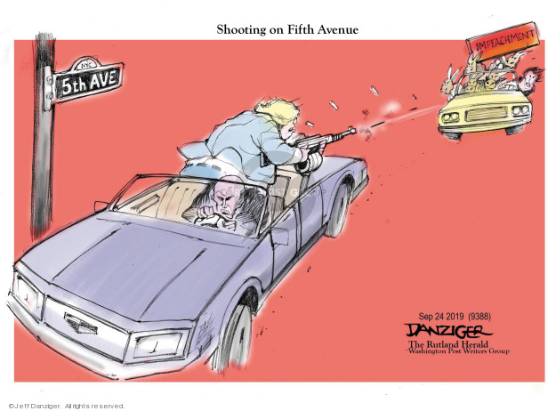 Cartoonist Jeff Danziger  Jeff Danziger's Editorial Cartoons 2019-09-26 shooting