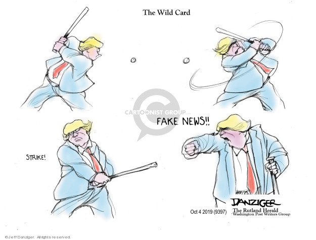 Cartoonist Jeff Danziger  Jeff Danziger's Editorial Cartoons 2019-10-03 inquiry
