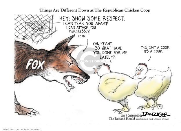 Cartoonist Jeff Danziger  Jeff Danziger's Editorial Cartoons 2019-10-08 national