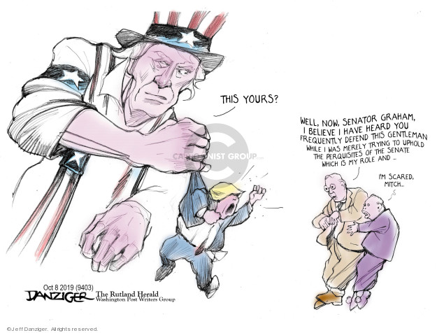 Cartoonist Jeff Danziger  Jeff Danziger's Editorial Cartoons 2019-10-10 conflict