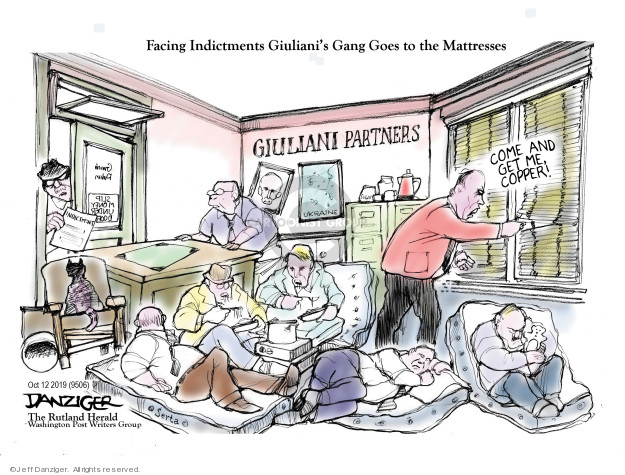 Cartoonist Jeff Danziger  Jeff Danziger's Editorial Cartoons 2019-10-13 inquiry