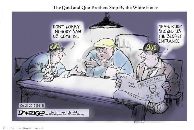 Cartoonist Jeff Danziger  Jeff Danziger's Editorial Cartoons 2019-10-21 deal