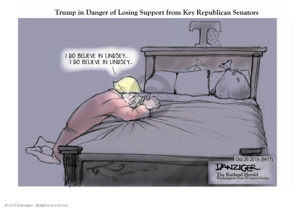 Trump in Danger of Losing Support from Key Republican Senators. I do believe in Lindsey … I do believe in Lindsey …