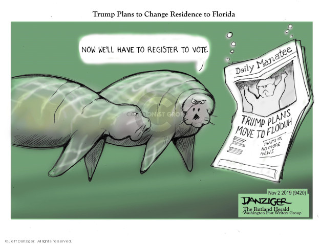 Cartoonist Jeff Danziger  Jeff Danziger's Editorial Cartoons 2019-11-02 change