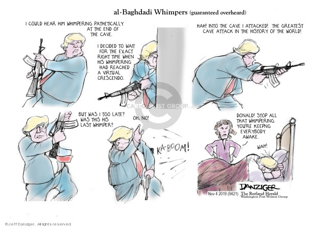 Cartoonist Jeff Danziger  Jeff Danziger's Editorial Cartoons 2019-11-04 conflict