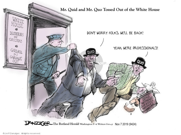 Cartoonist Jeff Danziger  Jeff Danziger's Editorial Cartoons 2019-11-07 White House