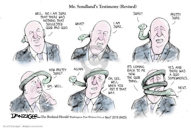 Cartoonist Jeff Danziger  Jeff Danziger's Editorial Cartoons 2019-11-08 national