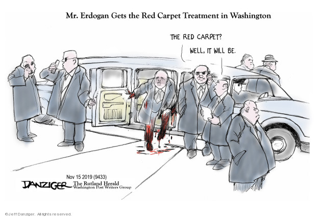 Cartoonist Jeff Danziger  Jeff Danziger's Editorial Cartoons 2019-11-15 conflict