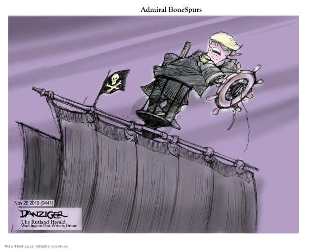 Cartoonist Jeff Danziger  Jeff Danziger's Editorial Cartoons 2019-11-25 draft