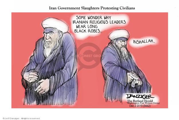 Cartoonist Jeff Danziger  Jeff Danziger's Editorial Cartoons 2019-12-03 religious
