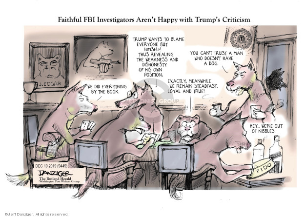 Cartoonist Jeff Danziger  Jeff Danziger's Editorial Cartoons 2019-12-11 national