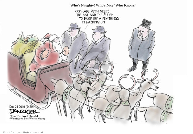 Jeff Danziger  Jeff Danziger's Editorial Cartoons 2019-12-21 political scandal