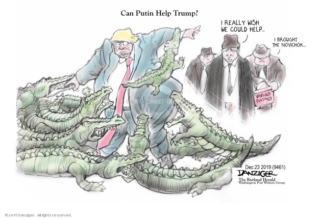 Jeff Danziger  Jeff Danziger's Editorial Cartoons 2019-12-23 political scandal