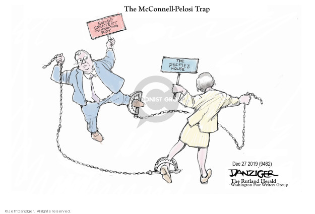 Cartoonist Jeff Danziger  Jeff Danziger's Editorial Cartoons 2019-12-26 obstruction