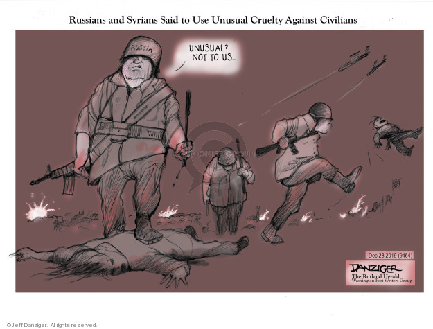 Cartoonist Jeff Danziger  Jeff Danziger's Editorial Cartoons 2019-12-29 conflict