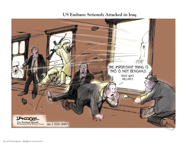 Cartoonist Jeff Danziger  Jeff Danziger's Editorial Cartoons 2020-01-03 Iraq