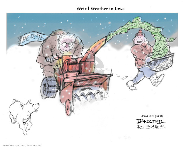Cartoonist Jeff Danziger  Jeff Danziger's Editorial Cartoons 2020-01-04 democratic candidate