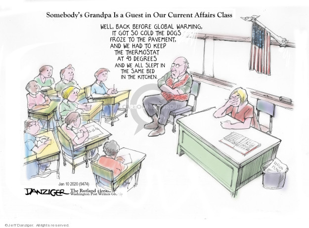 Cartoonist Jeff Danziger  Jeff Danziger's Editorial Cartoons 2020-01-11 back