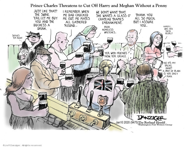Cartoonist Jeff Danziger  Jeff Danziger's Editorial Cartoons 2020-01-12 independence