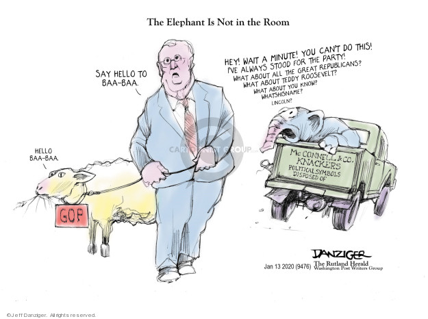Cartoonist Jeff Danziger  Jeff Danziger's Editorial Cartoons 2020-01-14 congressional