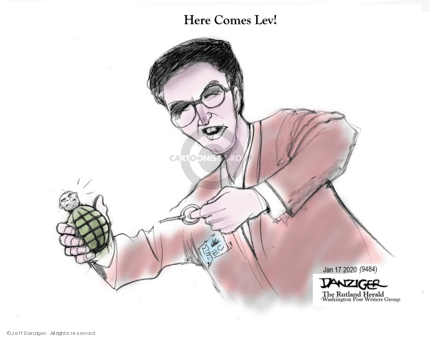 Cartoonist Jeff Danziger  Jeff Danziger's Editorial Cartoons 2020-01-18 politics