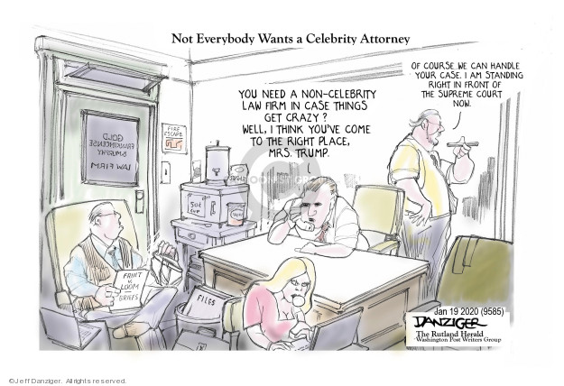 Cartoonist Jeff Danziger  Jeff Danziger's Editorial Cartoons 2020-01-20 politics