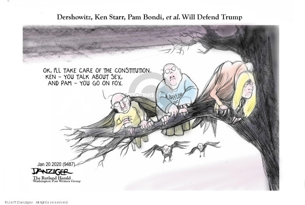 Cartoonist Jeff Danziger  Jeff Danziger's Editorial Cartoons 2020-01-21 obstruction
