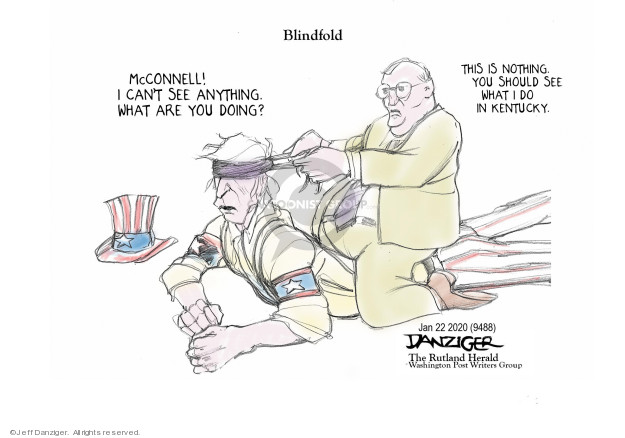 Cartoonist Jeff Danziger  Jeff Danziger's Editorial Cartoons 2020-01-23 obstruction
