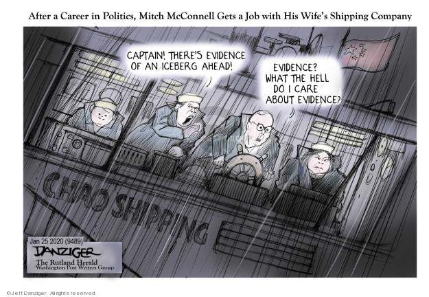 Jeff Danziger  Jeff Danziger's Editorial Cartoons 2020-01-24 Mitch McConnell