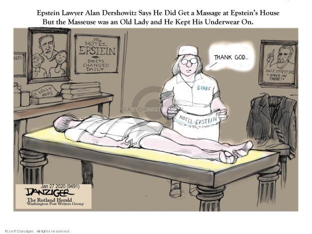 Cartoonist Jeff Danziger  Jeff Danziger's Editorial Cartoons 2020-01-27 lawyer