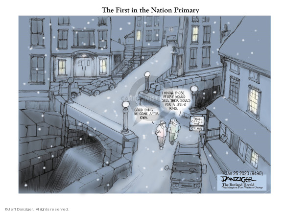 Cartoonist Jeff Danziger  Jeff Danziger's Editorial Cartoons 2020-02-05 presidential candidate
