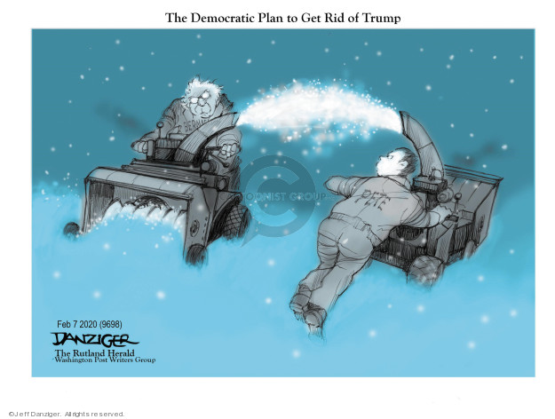 Cartoonist Jeff Danziger  Jeff Danziger's Editorial Cartoons 2020-02-07 democratic candidate