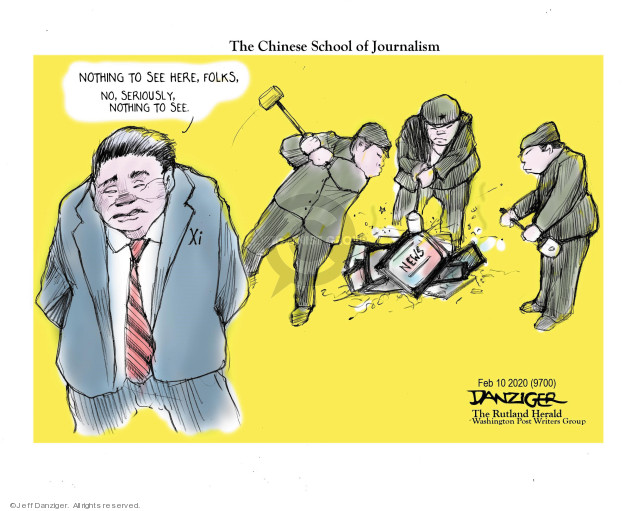 Jeff Danziger  Jeff Danziger's Editorial Cartoons 2020-02-09 press