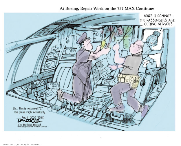 Cartoonist Jeff Danziger  Jeff Danziger's Editorial Cartoons 2020-02-11 travel safety