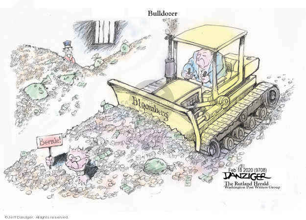 Cartoonist Jeff Danziger  Jeff Danziger's Editorial Cartoons 2020-02-19 democratic candidate